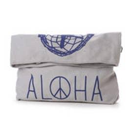 【kahiko】ALOHA ドリームキャッチャー3WAYバッグ / クラッチ・トート・ショルダーBAG グレー