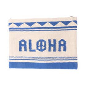 【Kahiko】ALOHAピースクラッチバッグ ホワイト