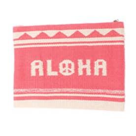 【Kahiko】ALOHAピースクラッチバッグ ピンク