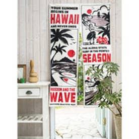 【kahiko】Hawaiianコミックのれん レッド