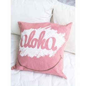 ◆【kahiko】ALOHAクッションカバー ピンク