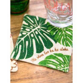 【kahiko】Hawaiian ジュートコースター グリーン
