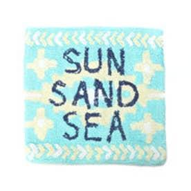 【kahiko】オルテガ柄クッションカバー SUN SAND SEA ブルー