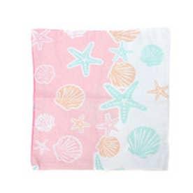 【kahiko】オパールプリント☆スターフィッシュ&シェルクッションカバー ピンク