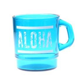 【kahiko】ALOHAパームリーフ★プラスタッキングマグカップ ブルー