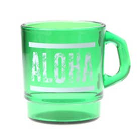 【kahiko】ALOHAパームリーフ★プラスタッキングマグカップ グリーン