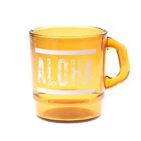 【kahiko】ALOHAパームリーフ★プラスタッキングマグカップ ブラウン