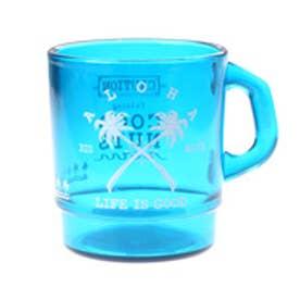 【kahiko】パームツリークロス★プラスタッキングマグカップ ブルー