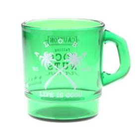 【kahiko】パームツリークロス★プラスタッキングマグカップ グリーン