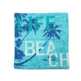 【kahiko】オーシャンビーチクッションカバー ブルー