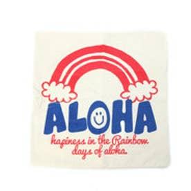 【kahiko】ALOHAコーデュロイクッションカバー ホワイト