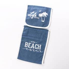 【Kahiko】デニムビーチ トイレットペーパーホルダー ライトブルー