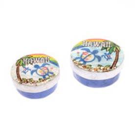 【kahiko】ALOHAカピスシェルボックス 2個セット ホワイト×ブルー