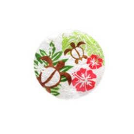【kahiko】ALOHAカピスシェルコースター ホワイト×グリーン