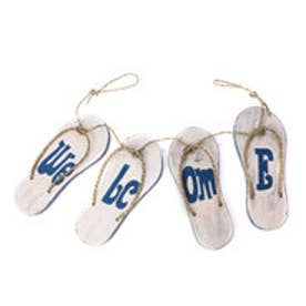 【Kahiko】Welcome Signboard Sandals ホワイト