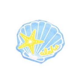 【Kahiko】カットワークシェルコースター ブルー