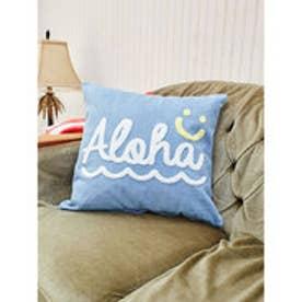 【Kahiko】Alohaデニムクッションカバー ブルー