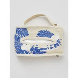【kahiko】Hawaiian ジュートティッシュボックスカバー ブルー系その他