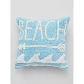 【Kahiko】BEACHアロー パイルクッションカバー ブルー