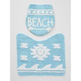 【Kahiko】BEACHアロートイレセット ブルー