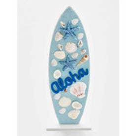 【Kahiko】Alohaサーフボード サンドスタンドオーナメント ブルー