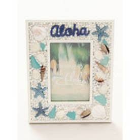 【Kahiko】Alohaビーチグラスフォトフレーム ブルー