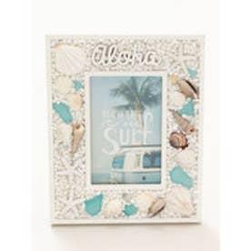 【Kahiko】Alohaビーチグラスフォトフレーム ホワイト