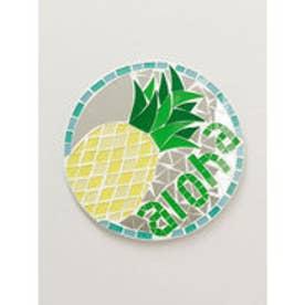 【Kahiko】ハワイアンモザイクミラーオーナメント イエロー×グリーン