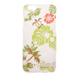 【kahiko】iPhone6/6sケース HAWAIIAN ホワイト×グリーン
