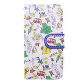 【kahiko】手帳型iPhone6/6s用スマホケース Hawaiian アイボリー