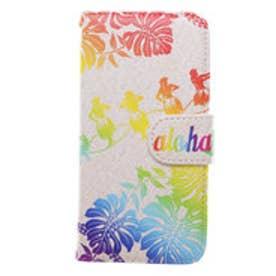 【kahiko】手帳型iPhone6/6s用スマホケース Hawaiian カラフル
