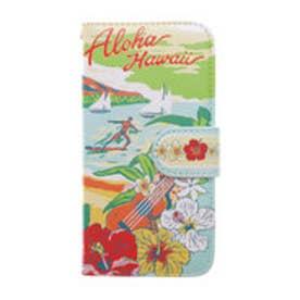 【kahiko】手帳型iPhone6/6s用スマホケース Hawaiian レインボー