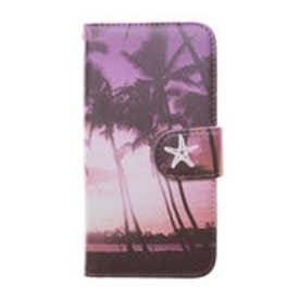 【kahiko】手帳型iPhone6/6s用スマホケース Hawaiian パープル