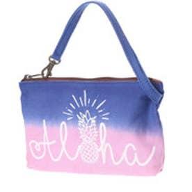 【Kahiko】Aloha グラデーションバッグインバッグ ネイビー