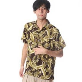 【Kahiko】リチャードMEN'Sアロハシャツ カーキ