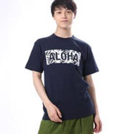 【Kahiko】ALOHAロゴメンズTシャツL ネイビー