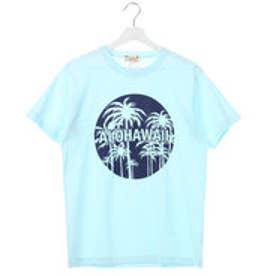 【Kahiko】ALOHA HAWAII パームツリーメンズTシャツM ブルー