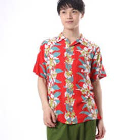 【kahiko】カトレアMEN'Sアロハシャツ レッド