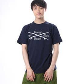 【Kahiko】サーフボードクロスメンズTシャツL ネイビー