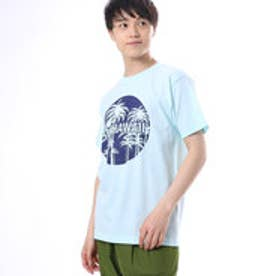 【Kahiko】ALOHA HAWAII パームツリーメンズTシャツL ブルー