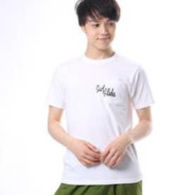 【Kahiko】Surf Aloha メンズポケットTシャツM ホワイト