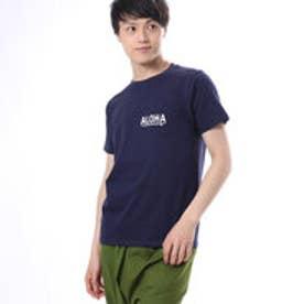 【Kahiko】ALOHAメンズポケットTシャツM ネイビー
