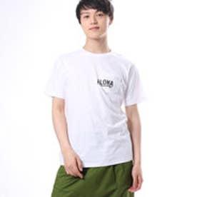 【Kahiko】ALOHAメンズポケットTシャツL ホワイト