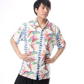 【Kahiko】パラダイスMEN'Sアロハシャツ クリーム