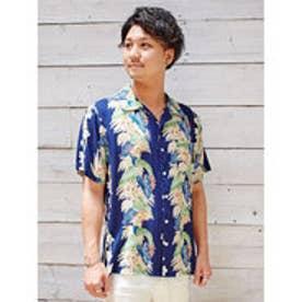【Kahiko】イリアヒMEN'Sアロハシャツ ネイビー