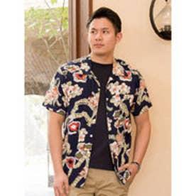 【Kahiko】カハルメンズアロハシャツ ネイビー