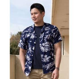 【Kahiko】サンサメンズアロハシャツ ネイビー