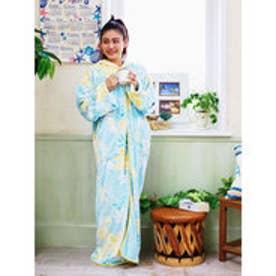 【kahiko】ティアレ着るブランケット / ルームウェア ライトブルー