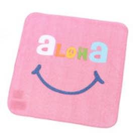 【kahiko】ALOHAタオルハンカチ ピンク