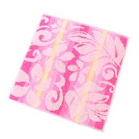【kahiko】グラデーションフラワータオルハンカチ ピンク